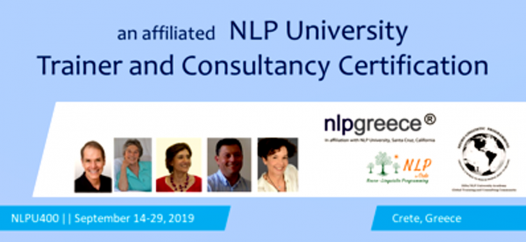 NLPU400 Trainer and Consultancy Certification : 2019