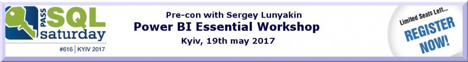 "Sergey Lunyakin ""Power BI Essential Workshop"""