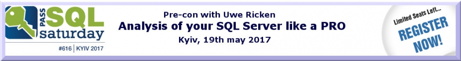 "Uwe Ricken ""Analysis of your SQL Server like a PRO"""