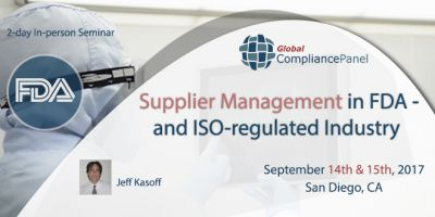 Supplier Management in FDA- and ISO-regulated Industry 2017