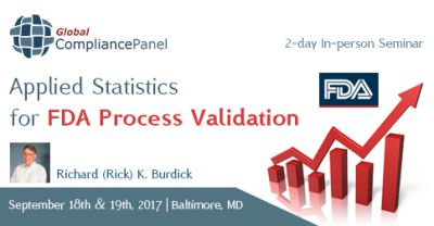 Applied Statistics for FDA Process Validation 2017