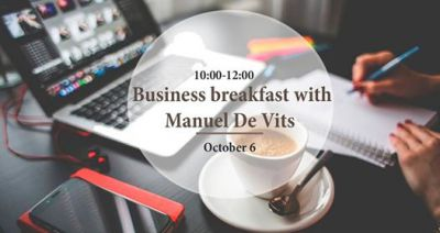 Business breakfast with Manuel De Vits