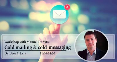 "Workshop with Manuel De Vits:""Сold mailing & cold messaging"""