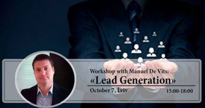 "Workshop with Manuel De Vits:""Lead Generation """
