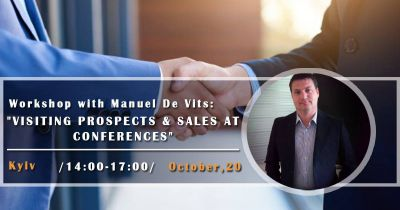 "Workshop with Manuel De Vits: ""Visiting Prospects & Sales at Conferences"""