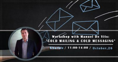 "Workshop with Manuel De Vits: ""Сold mailing & cold messaging"""