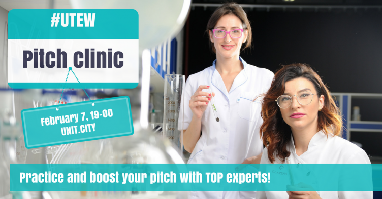 UTEW Pitch Clinic: Practice and boost your pitch with TOP experts!