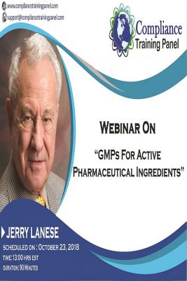 GMPs for Active Pharmaceutical Ingredients
